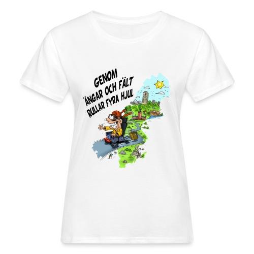rullar fyra hjul - Ekologisk T-shirt dam