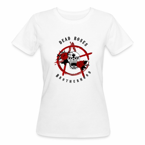 Dead Roses Anarchy Skull Black - Women's Organic T-Shirt
