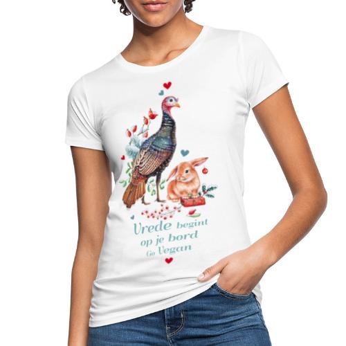 Peace begins on your plate. Go vegan. - Women's Organic T-Shirt