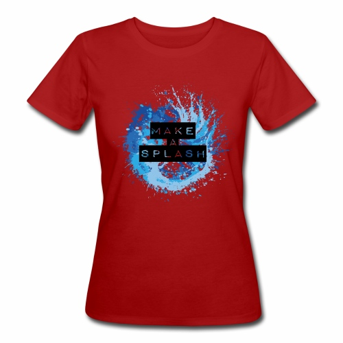 Make a Splash - Aquarell Design in Blau - Frauen Bio-T-Shirt