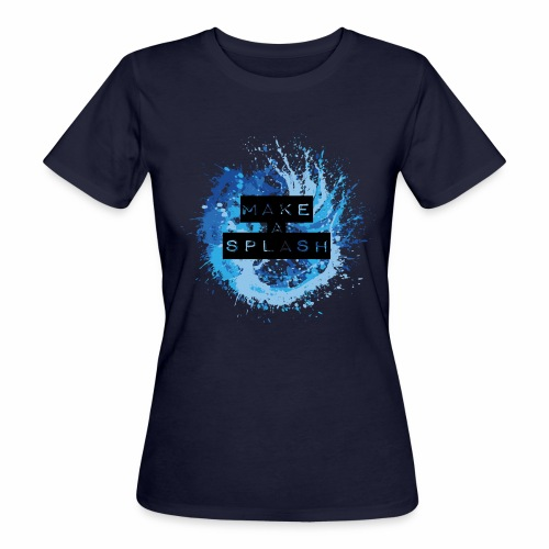 Make a Splash - Aquarell Design in Blau - Frauen Bio-T-Shirt