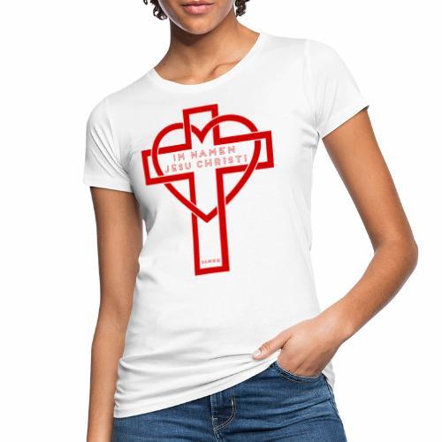 Im Namen JESU CHRISTI - rot - Frauen Bio-T-Shirt
