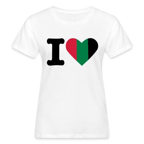 hartjeroodzwartgroen - Vrouwen Bio-T-shirt