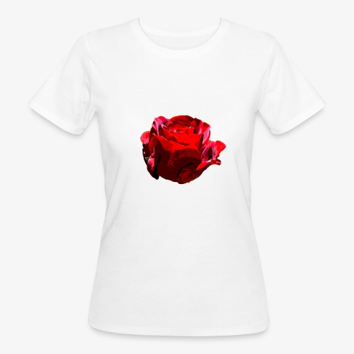 Red Rose - Frauen Bio-T-Shirt