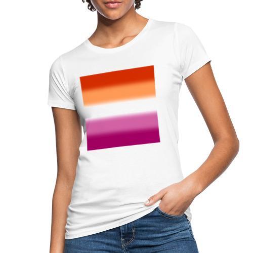 Verschwommene Lesben Flagge - Frauen Bio-T-Shirt