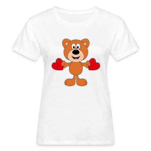 TEDDY - BÄR - LIEBE - LOVE - KIND - BABY - Frauen Bio-T-Shirt