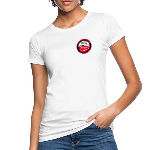 Emblemat Pracuje zdalnie - Akademia Wywiadu™ - Ekologiczna koszulka damska