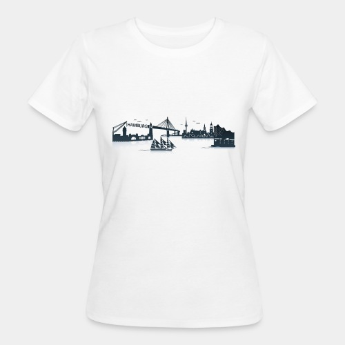 Hamburg Skyline - Frauen Bio-T-Shirt