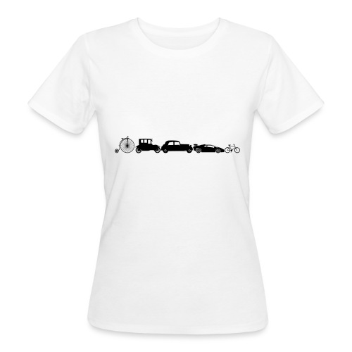evolution of vechicles - Vrouwen Bio-T-shirt