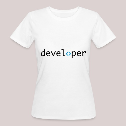 developer, coder, geek, hipster, nerd - Frauen Bio-T-Shirt