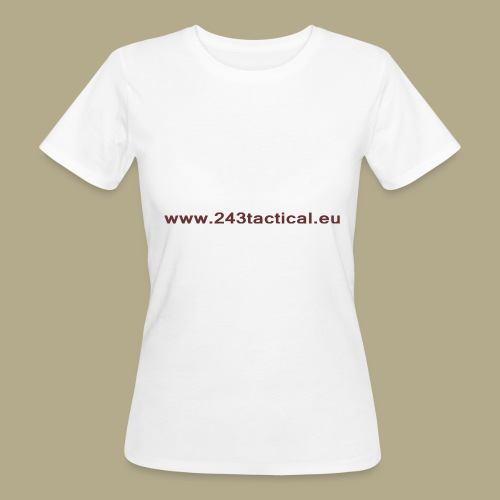 .243 Tactical Website - Vrouwen Bio-T-shirt