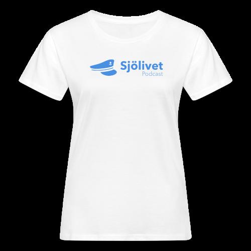 Sjölivet podcast - Svart logotyp - Ekologisk T-shirt dam