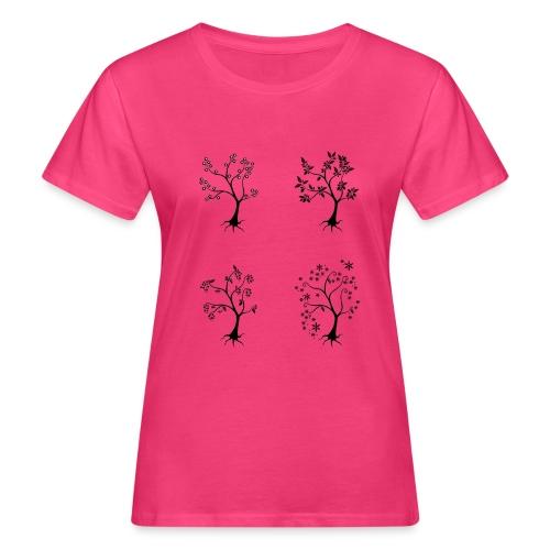 Vuodenajat - Naisten luonnonmukainen t-paita