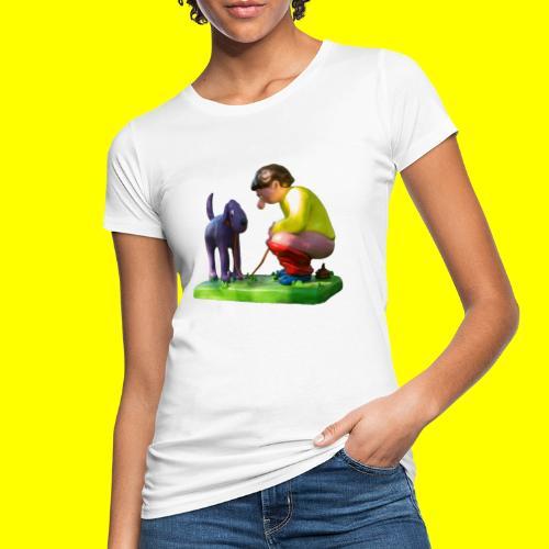 Mannetje Poep vrijstaand - Vrouwen Bio-T-shirt