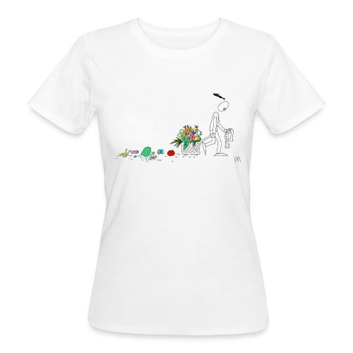 frukt og grønt handleveske - Økologisk T-skjorte for kvinner