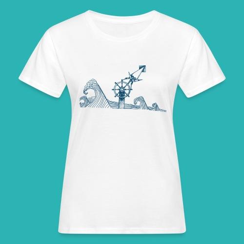 Carta_timone_blu-png - T-shirt ecologica da donna