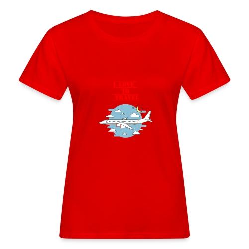 I Love To Travel - T-shirt ecologica da donna