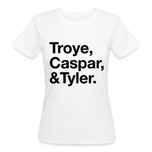 TROYE CASPAR AND TYLER - YOUTUBERS - T-shirt ecologica da donna