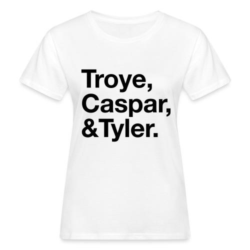 TROYE CASPAR AND TYLER - YOUTUBERS - T-shirt ecologica da donna