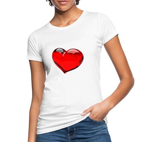 serce 3D - Ekologiczna koszulka damska