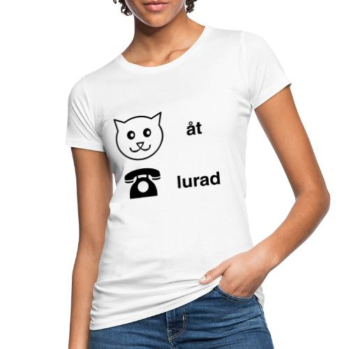 Katt åt telefon - Ekologisk T-shirt dam