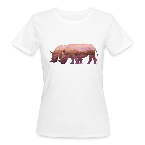 Nashorn Alpen - Frauen Bio-T-Shirt