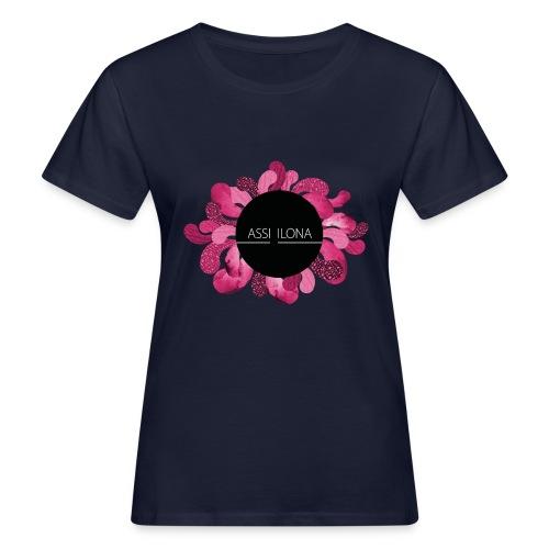 Toppi punaisella logolla - Naisten luonnonmukainen t-paita