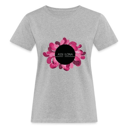 Lasten t-paita punaisella logolla - Naisten luonnonmukainen t-paita