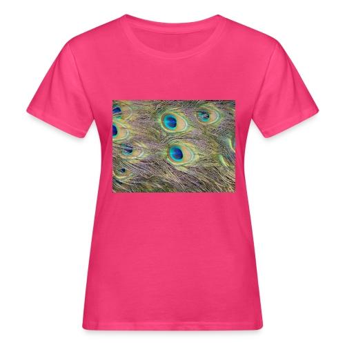 Peacock feathers - Naisten luonnonmukainen t-paita