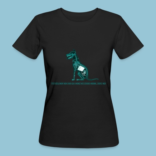 T-shirt femme imprimé Chien au Rayon-X - T-shirt bio Femme