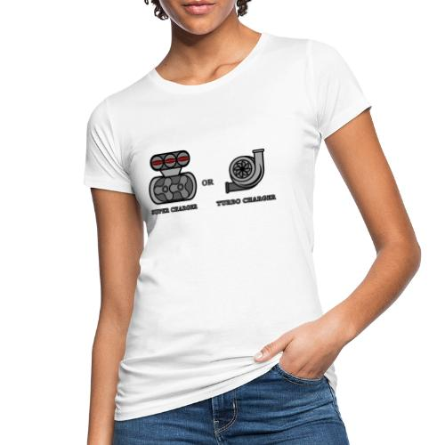 turbo charger vs super charger - T-shirt ecologica da donna