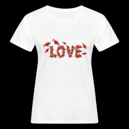 Flying Hearts LOVE - Women's Organic T-Shirt