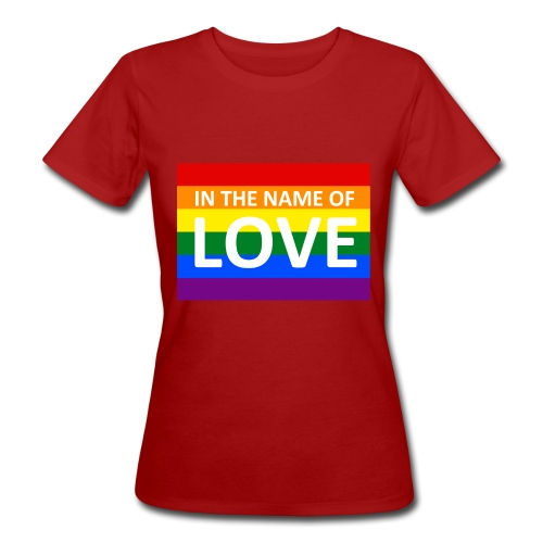 IN THE NAME OF LOVE RETRO T-SHIRT - Organic damer