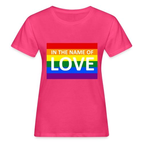 IN THE NAME OF LOVE RETRO T-SHIRT - Organic damer