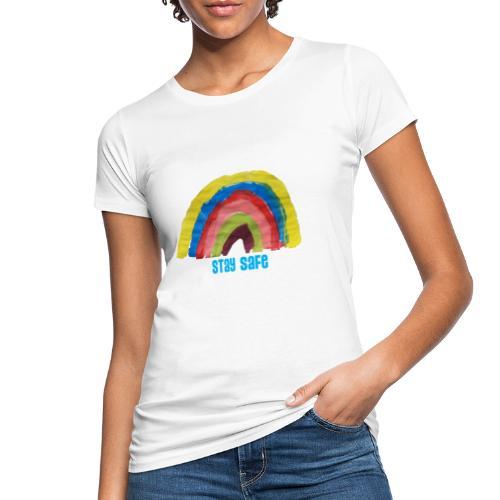 Stay Safe Rainbow Tshirt - Women's Organic T-Shirt