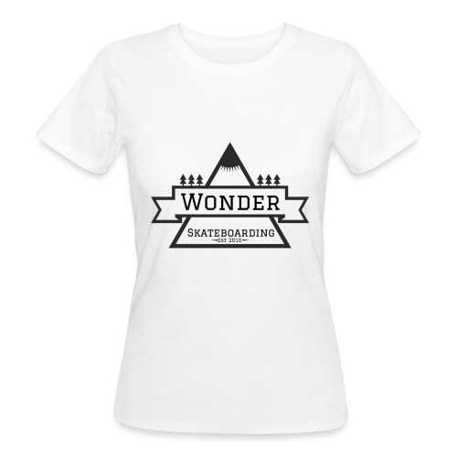 Wonder T-shirt: mountain logo - Organic damer
