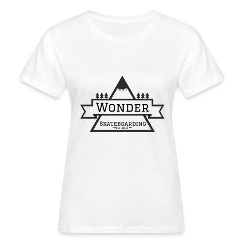 Wonder T-shirt: mountain logo - Organic damer
