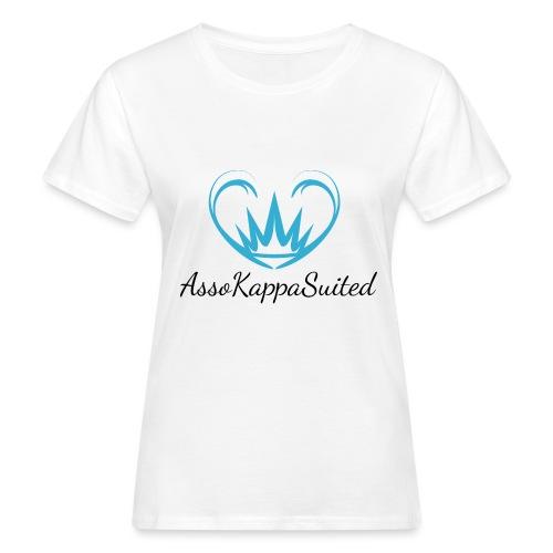 AssoKappaSuited Blu - T-shirt ecologica da donna
