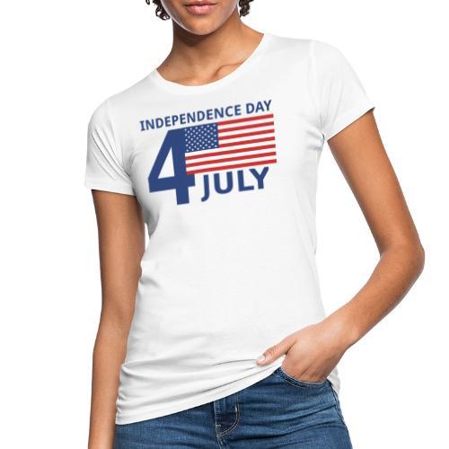 4th of July. 4 luglio - T-shirt ecologica da donna