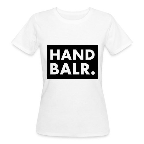 Handbalr Wit - Vrouwen Bio-T-shirt