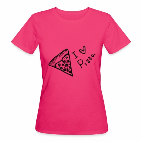 I LOVE PIZZA - Frauen Bio-T-Shirt