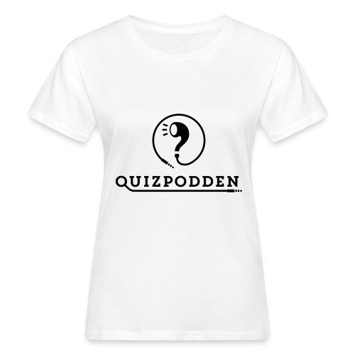 Quizpodden, T-shirt svart - Ekologisk T-shirt dam