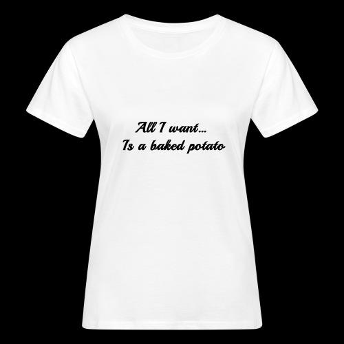 Baked potato - Women's Organic T-Shirt