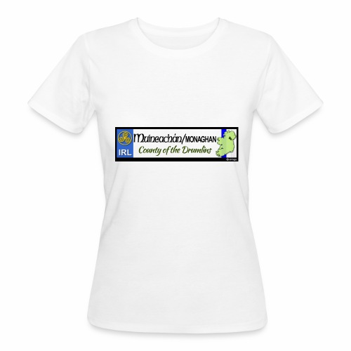 MONAGHAN, IRELAND: licence plate tag style decal - Women's Organic T-Shirt