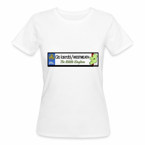 WESTMEATH, IRELAND: licence plate tag style decal - Women's Organic T-Shirt