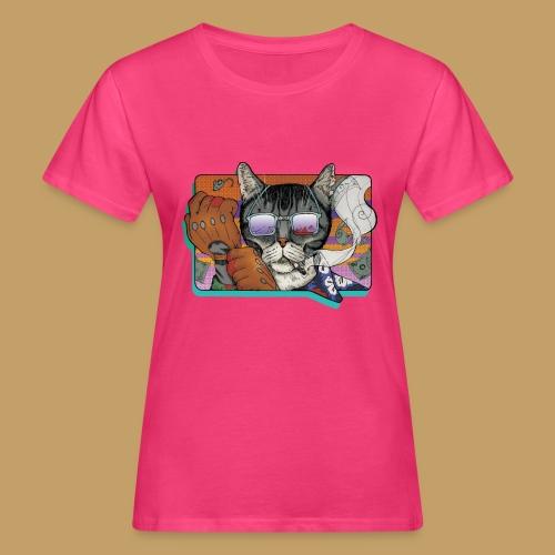 Crime Cat in Shades - Ekologiczna koszulka damska