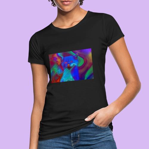 Gattino con effetti neon surreali - T-shirt ecologica da donna