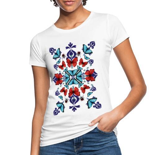Mix di farfalle - T-shirt ecologica da donna