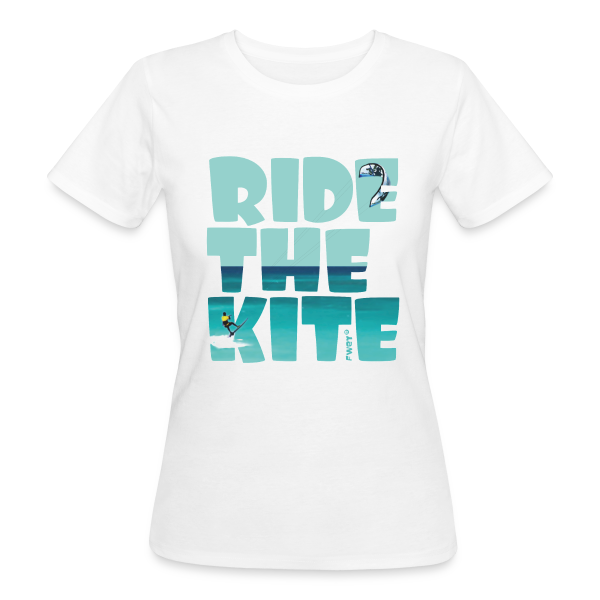 RIDE THE KITE - Frauen Bio-T-Shirt