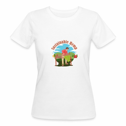 Cáñamo Sustentable en Inglés (Sustainable Hemp) - Camiseta ecológica mujer
